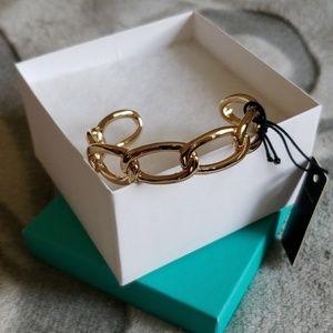 BaubleBar goldtone cuff bracelet